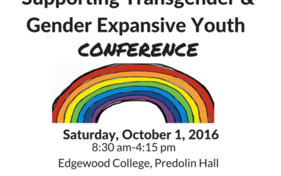 Coming in October! Supporting Transgender & Gender Expansive Youth Conference