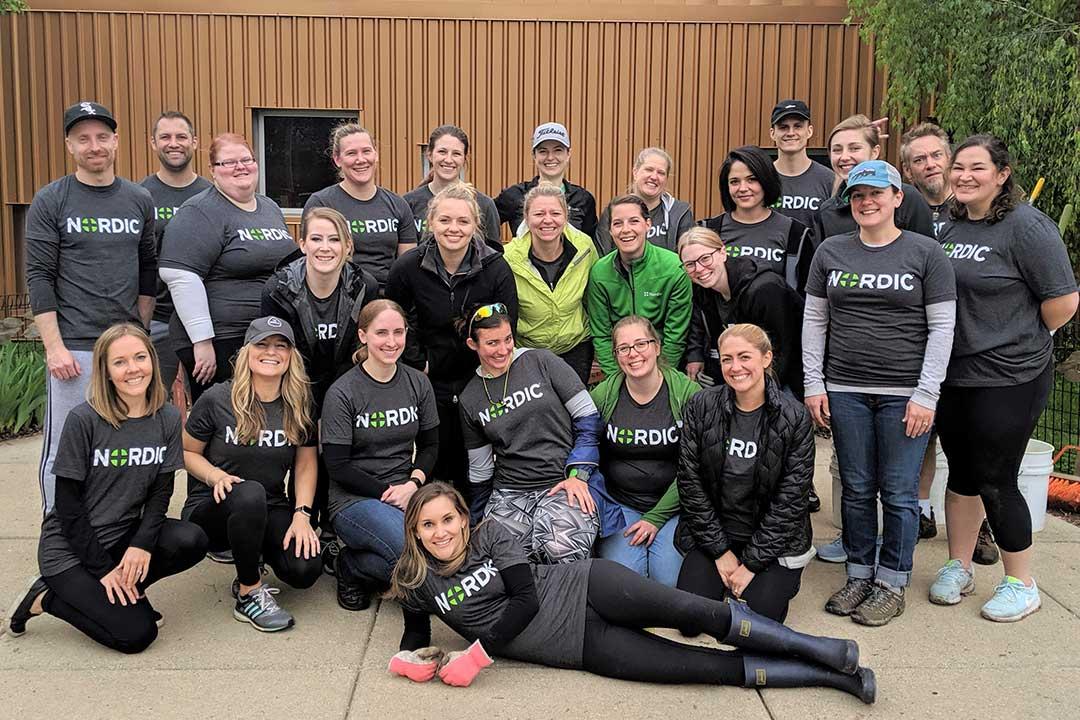 Photo of Nordic Consulting volunteer team